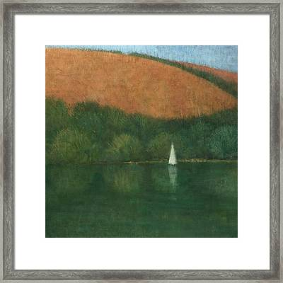 Sailing At Trelissick Framed Print by Steve Mitchell