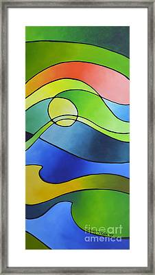 Sailing Away, Canvas Three Framed Print