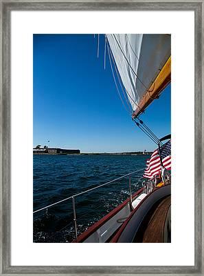 Sailing Away Framed Print by Karol Livote