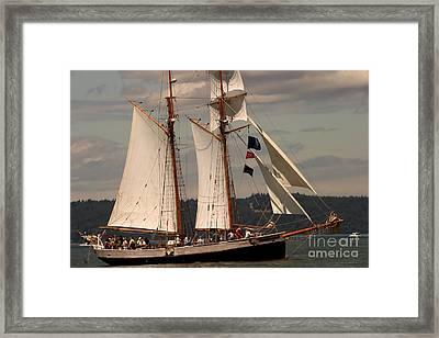Sailing Away Framed Print by Robert Torkomian