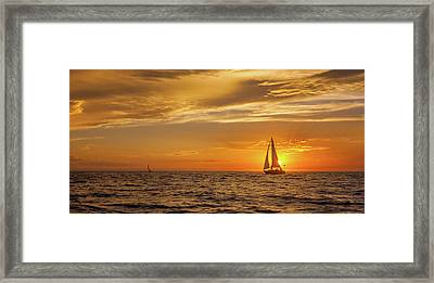 Sailing Away Two Framed Print by Steve Spiliotopoulos