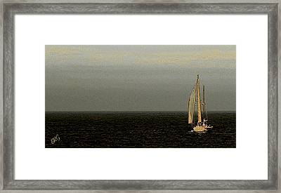 Framed Print featuring the photograph Sailing by Ben and Raisa Gertsberg