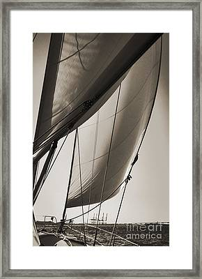 Sailing Beneteau 49 Sloop Framed Print