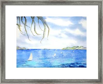 Sailing Between The Islandsd Framed Print