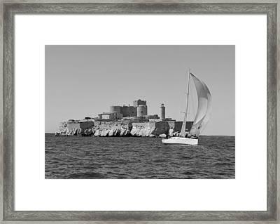 Sailing Boat Nautical 4 Framed Print by Jean Francois Gil