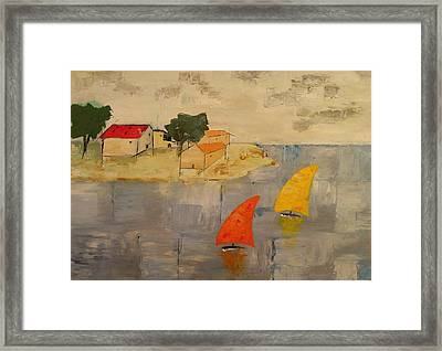 Sailing-boats Framed Print by Anthony Meton