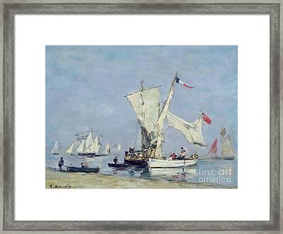 Sailing Boats Framed Print by Eugene Louis Boudin