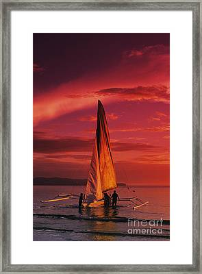 Sailing, Boracay Island Framed Print by William Waterfall - Printscapes