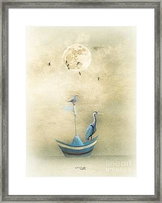 Sailing By The Moon Framed Print by Chris Armytage