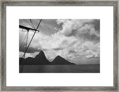Sailing By The Pitons Framed Print