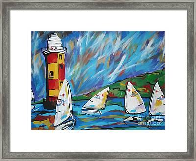 Sailing Framed Print by Caroline Davis