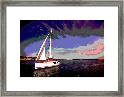 Sailing Framed Print by Charles Shoup