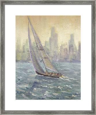 Sailing Chicago Framed Print