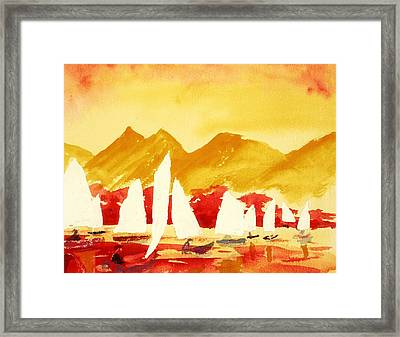 Sailing Class Framed Print by Buster Dight