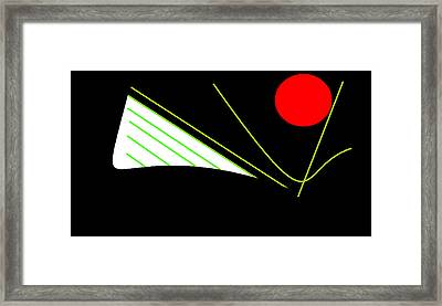 Framed Print featuring the digital art Sailing by Cletis Stump