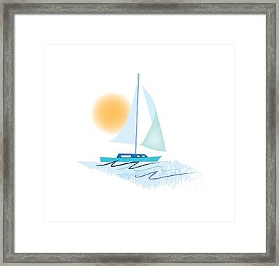 Sailing Day Framed Print