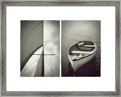 Sailing Diptych Framed Print
