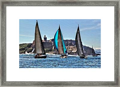 Sailing El Morro  Framed Print by Carey Chen