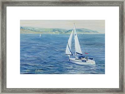 Sailing Home Framed Print by Antonia Myatt