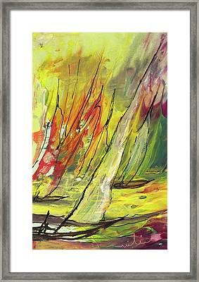 Sailing Impression 04 Framed Print by Miki De Goodaboom