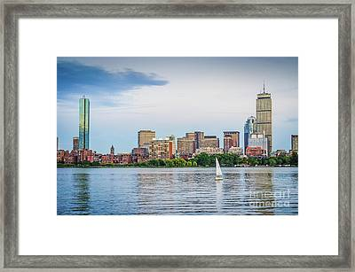 Sailing In Back Bay Framed Print by Mike Ste Marie