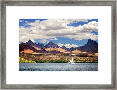 Sailing In Havasu Framed Print by James Eddy