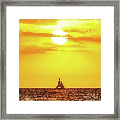 Sailing In Hawaiian Sunshine Framed Print