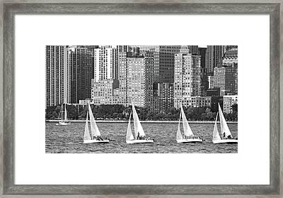 Sailing In New York Harbor No. 3-1 Framed Print