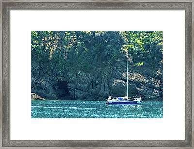 Sailing In Portofino Framed Print