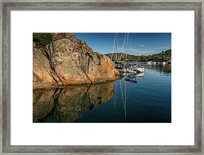 Sailing In Sweden Framed Print