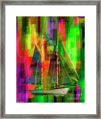Sailing In The Abstract 2016 Framed Print
