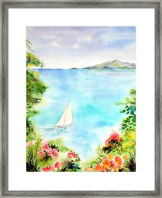 Sailing In The Caribbean Framed Print