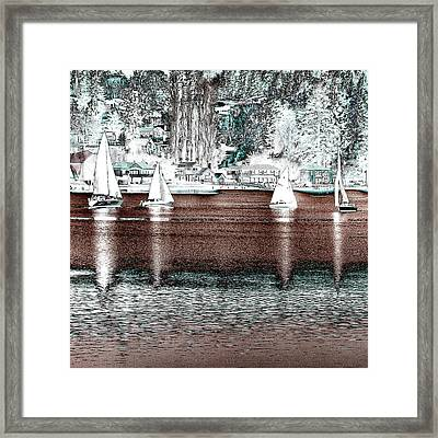 Sailing In The Harbor Framed Print