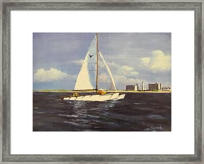Sailing In The Netherlands Framed Print by Jack Skinner