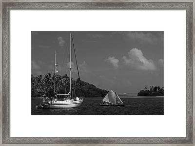 Sailing In The San Blais Islands Framed Print