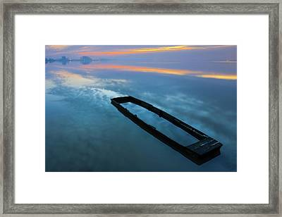 Framed Print featuring the photograph Sailing In The Sky by Davor Zerjav