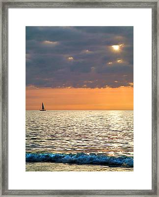 Sailing In The Sun Framed Print