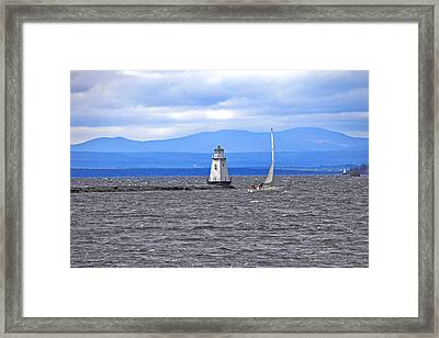 Sailing In To Open Waters Framed Print by James Steele