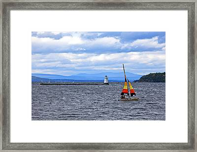 Sailing In Vermont Framed Print