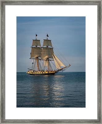 Sailing Into Port Framed Print by Dale Kincaid