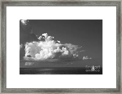 Sailing Into Storm Framed Print