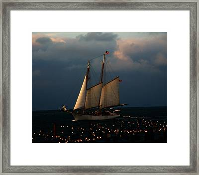 Sailing Into Sunset  Framed Print