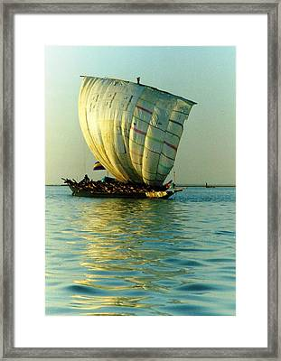 Sailing Into The Evening Sun Framed Print