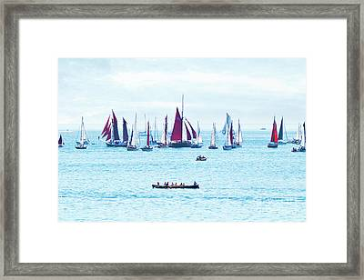Sailing Into The Heat Haze Framed Print by Terri Waters