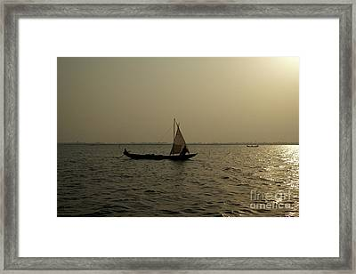 Sailing Into The Sunset Framed Print by David Shaffer