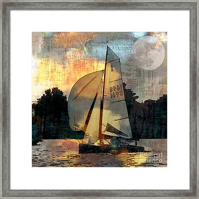 Sailing Into The Sunset Framed Print