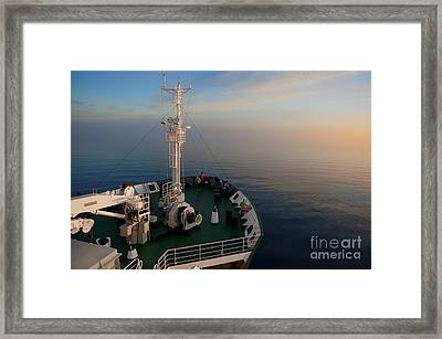 Sailing Into The Unknown... Framed Print by Nina Stavlund