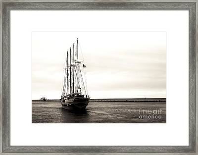 Sailing Lake Michigan Framed Print by John Rizzuto