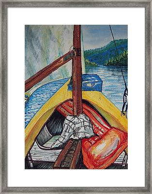 Sailing Lake Roosevelt Framed Print