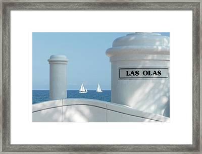 Sailing Las Olas Framed Print